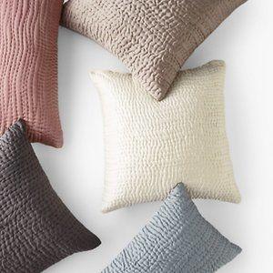 Eileen Fisher Silk Waves Garnet Hill Pillow 20x20